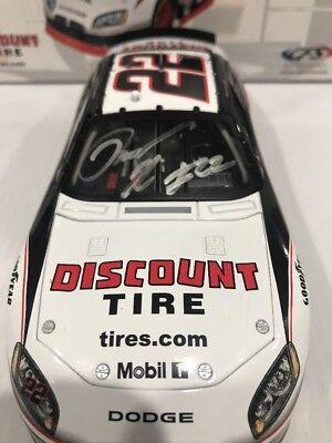 2010 Brad Keselowski Discount Tire Dodge Charger Autographed  Cfs