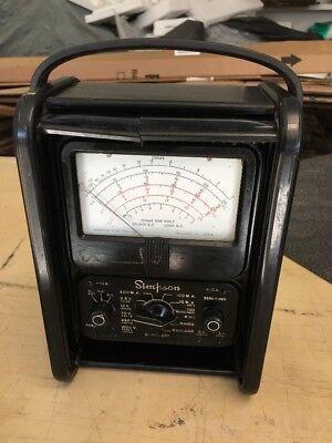 Simpson 260 Series Overload Protection Multimeter Volt-ohm Miliameter