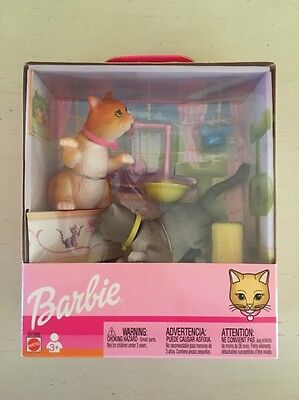 Barbie Set of 2 Bobble Heads Kitten Cat Set 2002 NIB