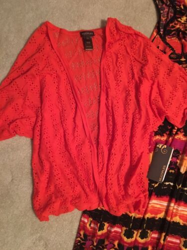 NWT MULTIPLES BRAND WOMENS DRESS/SHRUG OUTFIT SET LOT SIZE LARGE
