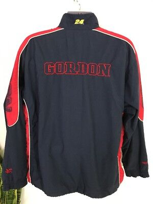 Nascar Jeff Gordon XL Jacket Red Race Car Driver #24 Nylon Coat Spell Out Wind for sale  Columbus