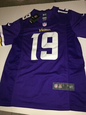 Adam Thielen Minnesota Vikings  19 Nike On Field Purple Jersey Mens Medium Nfl