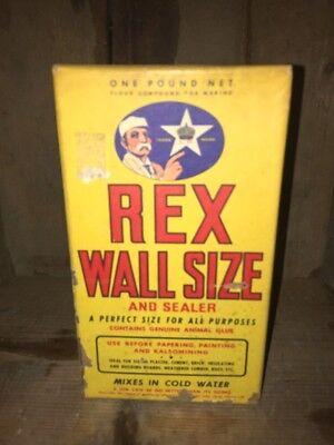 Vintage NOS Rex Wall Size Amd Sealer Wall Glue Box