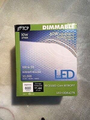 Led10dr427k 4 Led Recessed Can Light Retrofit Kit Dimmable 10w 2700k