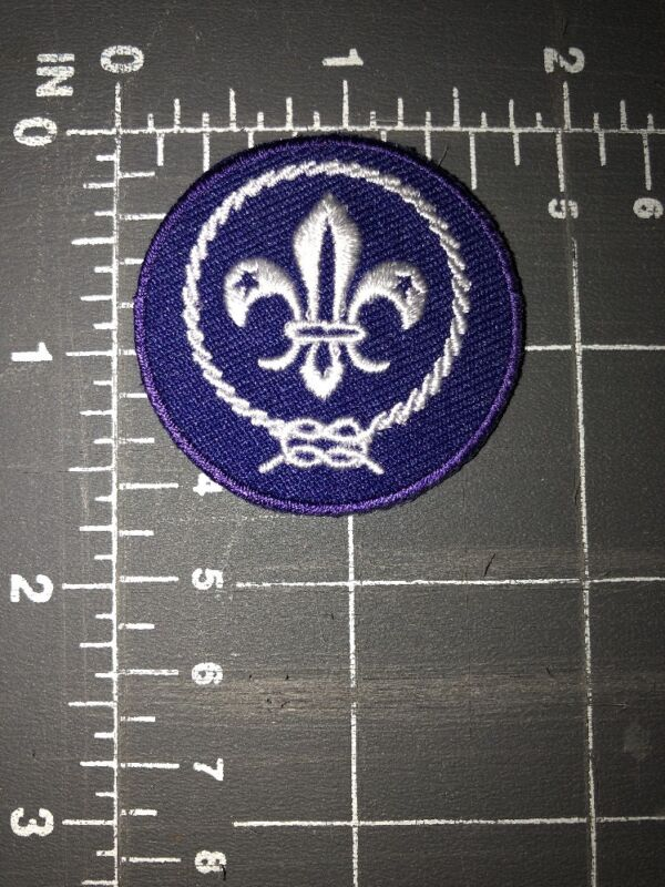 World Organization of Scouting WOS Boy Scouts of America BSA Patch Purple Crest