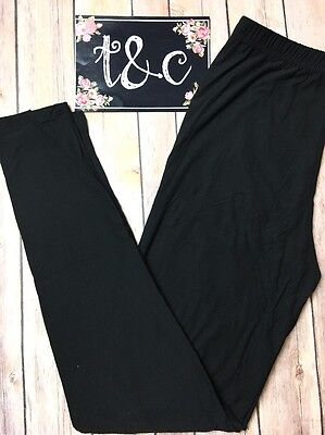 NWT TC Black Leggings Tall Curvy fits size 12-18 Buttery Soft (See Description)