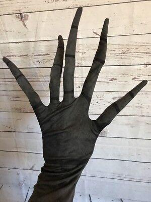 The Nightmare Before Christmas Jack Skellington Black Gloves Costume Accessory