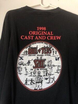HHN HALLOWEEN HORROR NIGHTS VII VTG 1998 BILL & TEDS CAST & CREW SHIRT 2XL