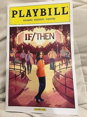 If Then Playbill  Idina Menzel  March 2014
