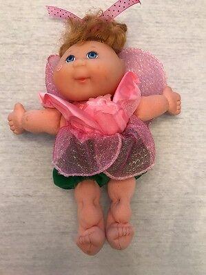 "CPK Cabbage Patch Kids Rose Flower Fairy Doll 8"" Mattel 1995 Pink Green"