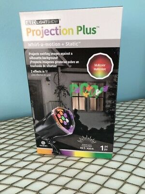Led Light Show Projection Halloween Multi Colored Boo And Ghosts New 2 In - Halloween Projection 1