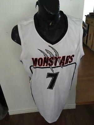 MENS XLARGE Basketball Jersey MONSTARS #7 COOL HALLOWEEN - Halloween Basketball Jerseys