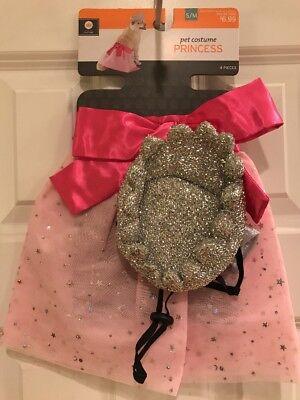 NWT Size Small / Medium Pink Princess Halloween Pet Costume for Dog 4 Pieces](Medium Dog Costumes For Halloween)