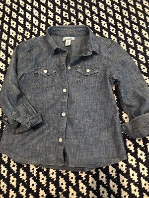 Perfect  Little Girls Old Navy Chambray Button Down  Sz Xs