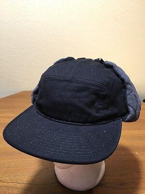 ec11a199c00 Ear Flap Hat Cadet Black Cold Weather Size L XL 59cm