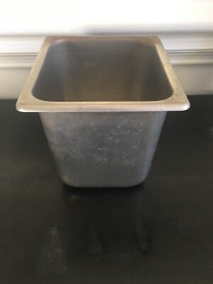 Vollrath Stainless Steel Food Pan 6 2066-2 Restaraunt Equipment Used Tray Steam