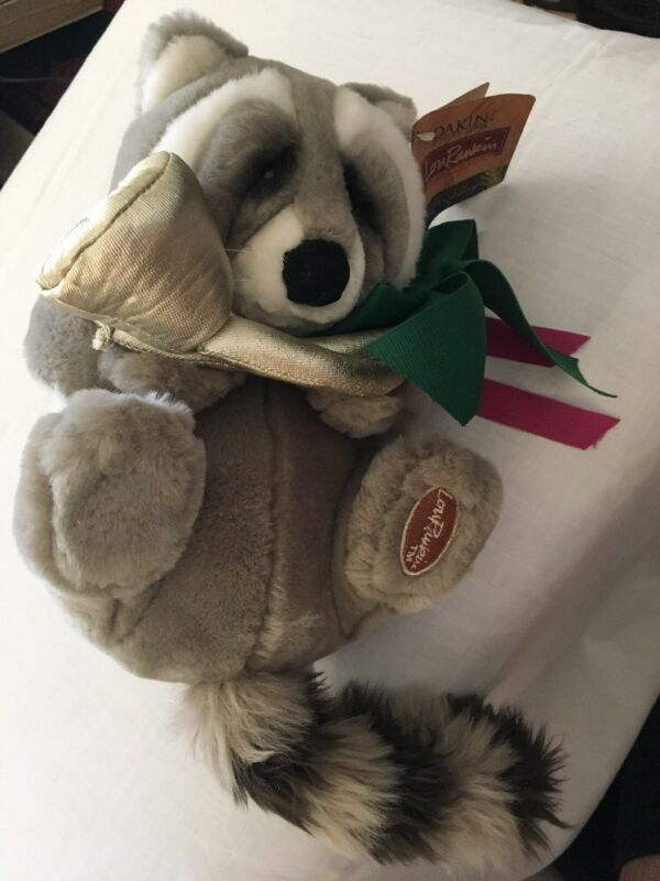Dakin Sammy Raccoon Christmas Holiday Plush Lou Rankin ASU French Horn