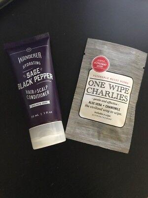 Dollar Shave Club   Wanderer Sage Black Pepper  Conditioner  1 Flushable Wipe