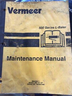 Vermeer 500 Series L Round Baler Maintenance Manual