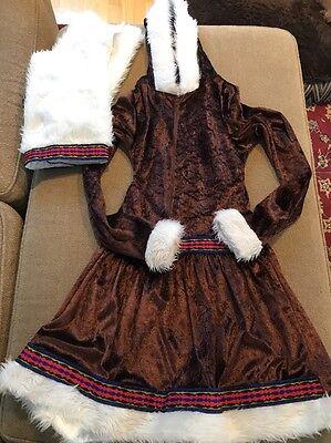 Women's Eskimo Kisses Hooded Costume Small Halloween Boot Covers - Eskimo Costume Halloween