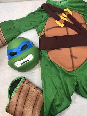 Teenage Mutant Ninja Turtles Halloween Costume sz sm Detachable Shell, mask- Leo - Halloween Costume Ninja Turtle Shell