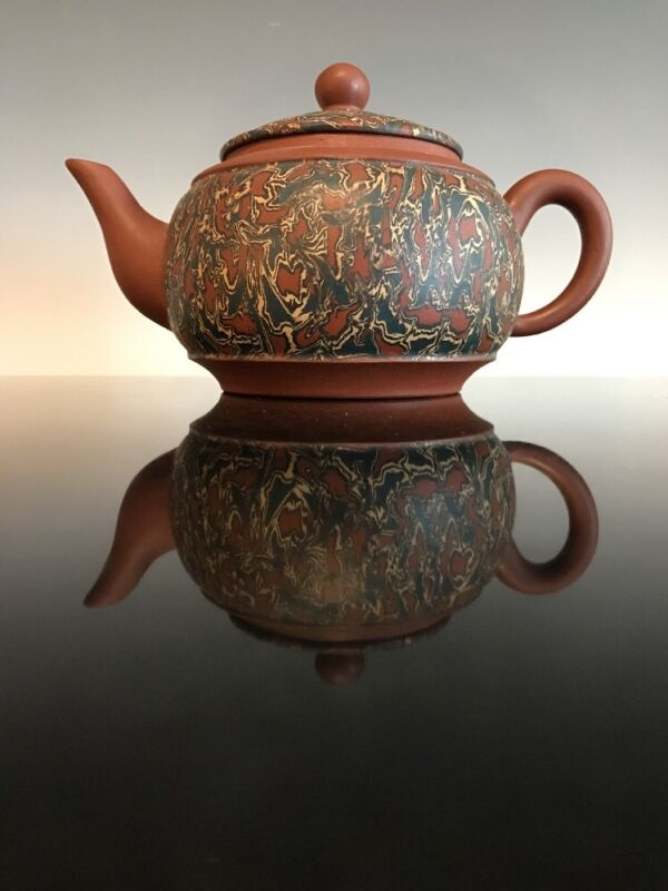 A Chinese Marbled Teapot