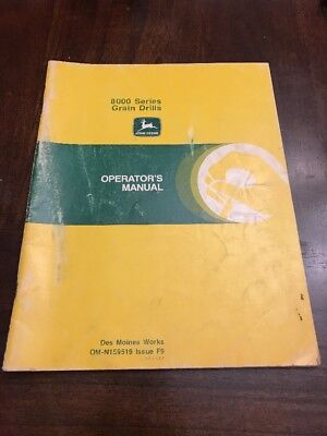John Deere Operators Manual 8000 Series Grain Drills Original Manual Om-n159519