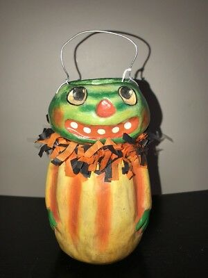 "7"" Halloween Watermelon Bucket Silver Willow Crepe Paper Collar](Halloween Watermelon)"
