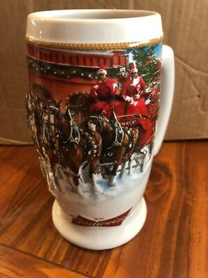 "2006 Budweiser Collectable Holiday Beer Stein ""Sunset at the Stables"""