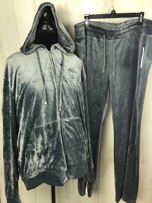 Women's Activewear Pine Set Size 3X Gray Velour Like Material E13