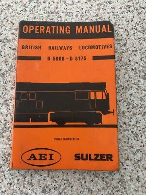 BR Locomotives . Operating Manual D5000 - D5175
