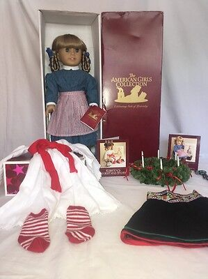 """American Girl Doll 18"""" Kirsten+St Lucia Outfit+Wreath+Winter Skirt+Box Lot"""