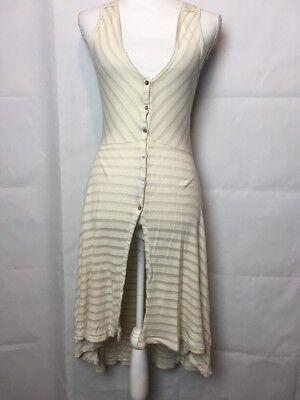 Anthropologie Postmark Dress Sleeveless Tank Henley Hi Lo Split Front Cover - Hi Lo Tank Dress