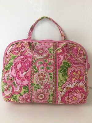Make-up Petal (VERA BRADLEY Petal Pink Make Up Cosmetic Bag Handles Zipper  LR)