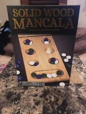 Solid Wood Mancala Marble Game (Mancala Marble Game)