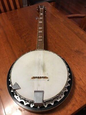 Vintage Drifter 5 String Banjo Rosewood  Made in Japan Clean Musical Instrument