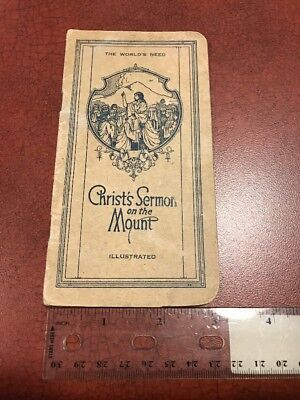 The World's Need Christ's Sermon On The Mount 1922 Religious Pamphlet FREE SHIP (Free Religious Booklet)
