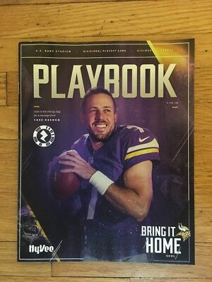 Minnesota Minneapolis Miracle Saints Vs. Vikings 1-14-2018 NFC Division Playbook