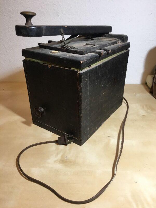 Vintage Light Box Portable Dark Room w Bulb Film Camera Development Handmade