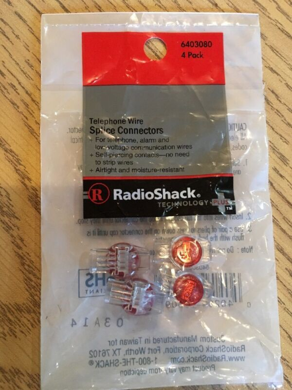 Brand New RadioShack Phone Wire Splice Connector 4-pack 640-3080