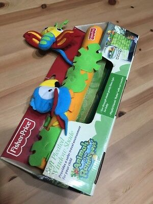 NEW Fisher-Price Kids Rainforest Soft Window Pleated Car Shade Dragonfly Bird 07