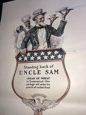 Cream Of Wheat Ad Rastus Black Man Memorabilia  1918 Uncle Sam Patriotic