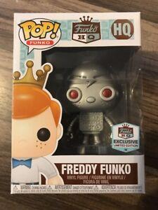 Funko HQ Pop! Freddy Funko Robot Exclusive Limited Edition Rare New NIB Everett