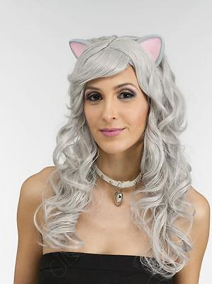 Grey Mouse Wig  Cat Wig  Latex rubber ears  Cosplay   Silver grey