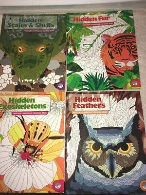 Lot Of Four 2004 Mindware Pencil Coloring Books