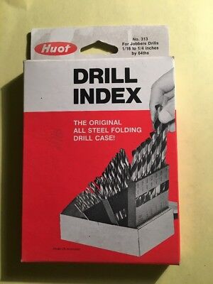 Huot 313 Jobber Length Drill Index 116 To 14 By 64ths New In Package Usa