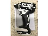 Makita XDT11z White 18v LXT Lithium-Ion 1/4 Cordless Impact Driver Tool Only 2019 Limited edition