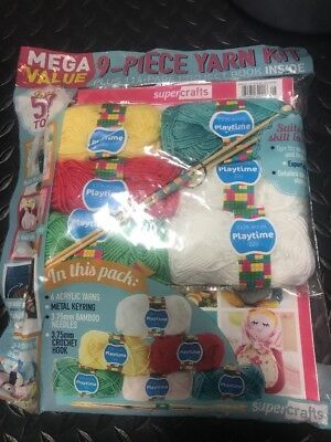 Knit 9 Piece Yarn Kit Supercrafts