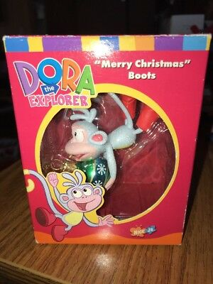 NIB Vintage Dora The Explorer Monkey Christmas Ornaments 2003 American Greetings