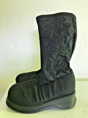 TODDLER GOGO BOOTS Black Tall High Stretch LA Underground 6.5 Embroidery Costume - Toddler Gogo Boots